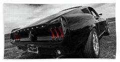 Black 1967 Mustang Hand Towel by Gill Billington