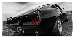 Black 1967 Mustang Hand Towel