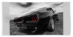 Black 1967 Mustang Bath Towel
