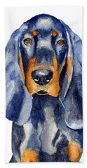Black And Tan Coonhound Dog Bath Towel