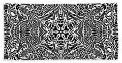 Black And  White 27 Bath Towel by Robert Thalmeier