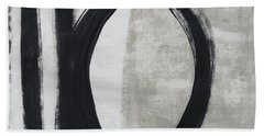Black And White Abstract 1- Art By Linda Woods Bath Towel