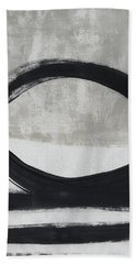 Black And White Abstract 2- Art By Linda Woods Bath Towel
