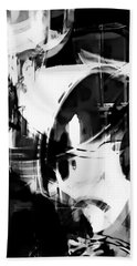 Black And White Abstract Bath Towel