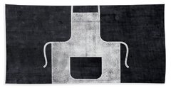 Black And White Apron- Art By Linda Woods Hand Towel