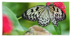 Black And White Butterfly Hand Towel