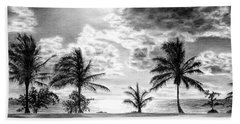 Black And White Caribbean Sunset Hand Towel