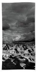 Black And White Cloudy Day Grand Canyon Arizona Hand Towel