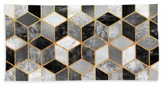 Black And White Cubes Hand Towel