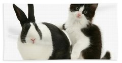 Black And White Double Act Hand Towel