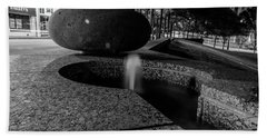 Black And White Fountain Hand Towel