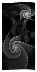 Black And White Fractal 080810 Hand Towel