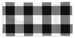 Black And White Gingham Large- Art By Linda Woods Bath Towel