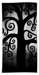 Black And White Tree Hand Towel