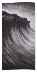 Black And White Wave Guam Hand Towel