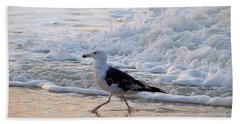 Black-backed Gull Bath Towel