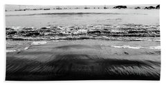 Black Beach  Bath Towel
