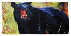Black Bear Hand Towel by Anne Marie Brown