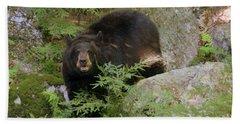 Black Bear Bath Towel