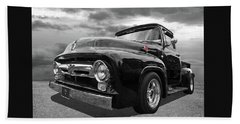 Black Beauty - 1956 Ford F100 Hand Towel