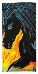 Black Beauty Bath Towel by Nora Shepley