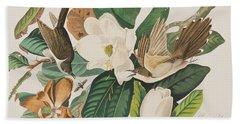 Black Billed Cuckoo Hand Towel by John James Audubon