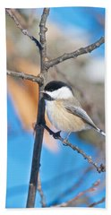Black Capped Chickadee 1140 Hand Towel by Michael Peychich