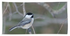 Black Capped Chickadee 1379 Bath Towel