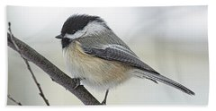 Black-capped Chickadee Bath Towel