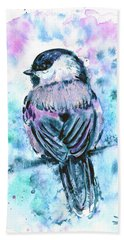 Black-capped Chickadee Hand Towel