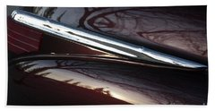 Black Cherry Abstract Bath Towel by Linda Bianic