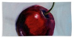 Hand Towel featuring the painting black Cherry by Nancy Merkle