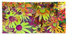 Black-eyed Susan   Abstract  Bath Towel