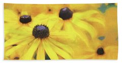 Hand Towel featuring the photograph Black-eyed Susan Flowers  by Jennie Marie Schell