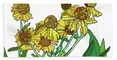 Black Eyed Susans Hand Towel