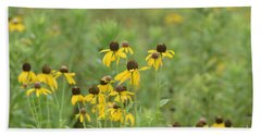 Bath Towel featuring the photograph Black-eyed Susans by Maria Urso