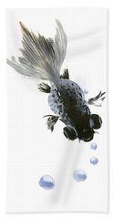 Black Fish Hand Towel