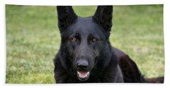 Black German Shepherd Dog II Hand Towel