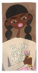 Black Girl Magic Hand Towel