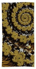 Black Gold Bath Towel