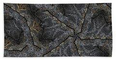 Black Granite Kaleido #1 Bath Towel by Peter J Sucy