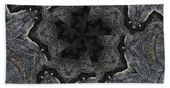 Black Granite Kaleido #2 Bath Towel by Peter J Sucy
