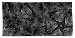 Black Granite Kaleido 3 Hand Towel by Peter J Sucy