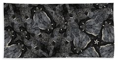 Bath Towel featuring the photograph Black Granite Kaleido 3 by Peter J Sucy