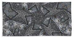 Black Granite Kaleido #4 Hand Towel by Peter J Sucy