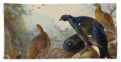 Black Grouse And Gamebirds By Thorburn Hand Towel