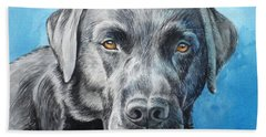 Black Lab Bath Towel