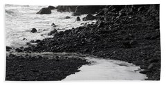 Black Lava Beach, Maui Hand Towel