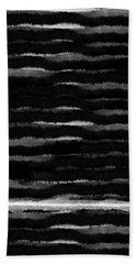 Black Lines- Art By Linda Woods Bath Towel