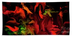 Hand Towel featuring the digital art Black Magic  by Sherri Of Palm Springs